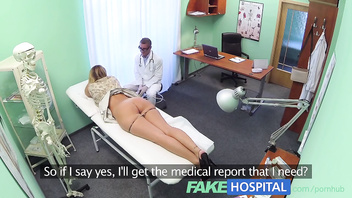 FakeHospital Nurse finds exposed russian after doctors checkup