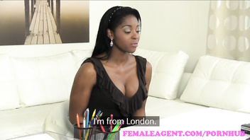 FemaleAgent Confident English beauty in superb lesbian casting