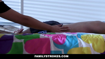 FamilyStrokes - Sneaking Around For Stepbros Cock