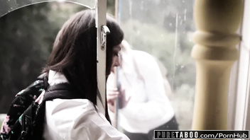 PURE TABOO Schoolgirls Punished After Breaking In House!