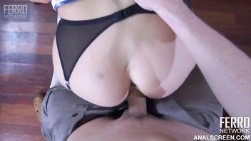 Hot russian milf seduce her lover for anal sex