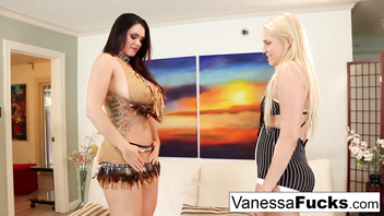 Alison & Vanessa decide to fuck before a Halloween Party