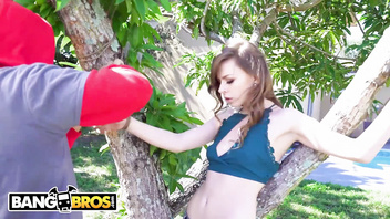 BANGBROS - Alex Blake Gets Manhandled By A Horny Thief, Bruno Dickemz