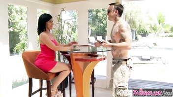 Twistys - (Chad Alva, Belle Noire) starring at Sneaky Sex