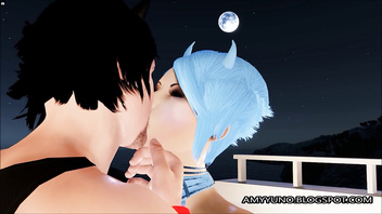 Romantic 3D Emo Couple Love-Making In Virtual Adult Game!