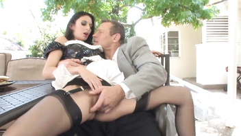 Nikki Daniels - outdoor fuck in sexy stockings