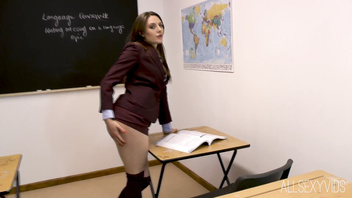 Samantha Bentley Takes A Cock In Detention