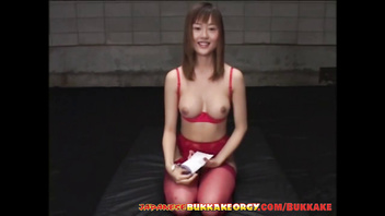 Japanese girls extreme Cum play - Japanese Bukkake Orgy