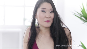 PrivateBlack - Hot Asian Katana Drilled By Big Dark Dick!