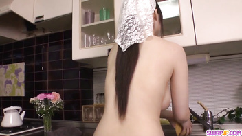 Busty wife, Rie Tachikawa, impressive blowjob in POV - More at Slurpjp.com