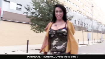 LAS FOLLADORAS - Sexy Spanish MILF Suhaila Hard rides amateur cock in steamy pickup and fuck