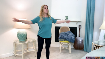 Stepson helps stepmom make an exercise video - Erin Electra