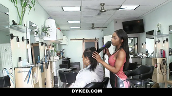 Hot Readhead Gets Seduced By Black Hairdresser