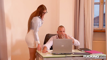Fucking In Glasses Brings Multiple Orgasms To Kitana Lure During Office Sex
