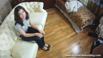 DOUBLEVIEWCASTING.COM - IVANA OPENS HER MOUTH WIDE (POV VIEW)