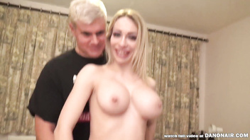 Skinny British babe Chessie Kay has massive titties