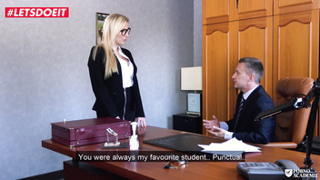 LETSDOEIT - British Slut Gets Nailed By Her French Teacher