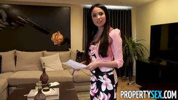 PropertySex - Virgin programmer fucks busty French real estate agent