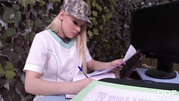 Sexy Military Doctor Lola Taylor Gets Her Tight Asshole Licked and Fucked
