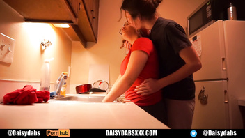 Slutty Couple Kitchen Fuck