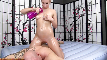 Erotic Oil Body Massage and sex by Dakota James