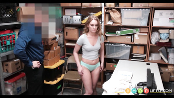 Cute Big Ass Teen PAWG Daisy Stone Caught Shoplifting & Fucked By Security