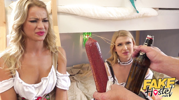 Fake Hostel Oktoberfest girls served some sausage