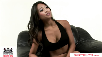 Tiny Brown Filipina Asian Kina Kai gets her pussy Stretched by Monster Cock