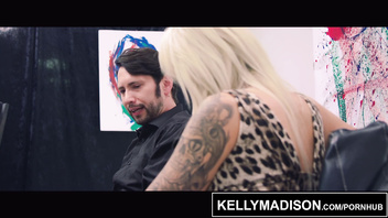 KELLY MADISON Nina Elle Gets Her Tits Painted With Jizz By An Artist