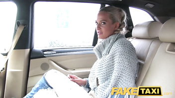 FakeTaxi Married lady sucks and fucks driver