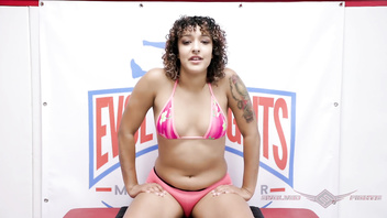 Daisy Ducati nude wrestling fuck session with Oliver at Evolved Fights