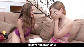 Two Teen Sisters Taste Each Other And Orgasm
