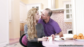 Casual Teen Sex - Fucking all over the kitchen Sonya Sweet teen-porn