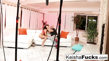 Keisha gets fucked right after her tease video shoot