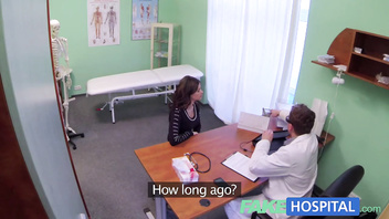 Fake Hospital Sexual treatment turns gorgeous busty patient moans of pain into p
