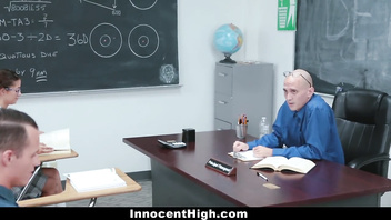 InnocentHigh - Rebellious Teen Fucked During Detention
