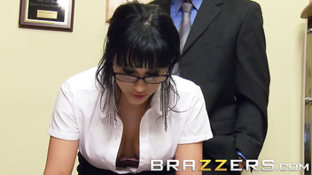 Brazzers - Slutty secretary Abella Anderson gets pounded over the desk