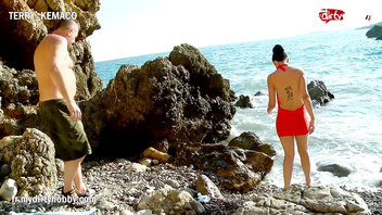 Mydirtyhobby - Hot brunette fucked on a rocky shore